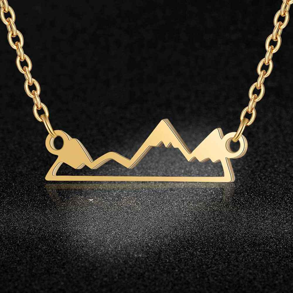 AAAAA Quality 100% Stainless Steel Mountain Necklace for Women Fashion Charm Necklaces Special Gift Wholesale High Polish