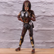 2018 Ultimate Edition Lab Fuja NECA Predator Predator PVC Action Figure Collectible Modelo Toy Com Luz LED(China)