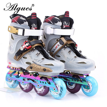 Skate Adult Roller Skate Shoes Men Fancy College Students Single Row Beginner Skates Adjustable Size Inline Sneakers Boots цена 2017