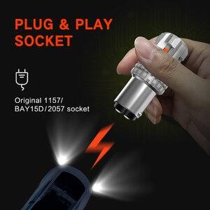 Светодиодный фонарь BAY15D, 2 шт., 1157 P21, 5 Вт, Canbus P21/5 Вт, светодиодный стоп-сигнал для автомобиля, 1157 Красный сигнал для стоп-сигналов, ДХО, задний ...
