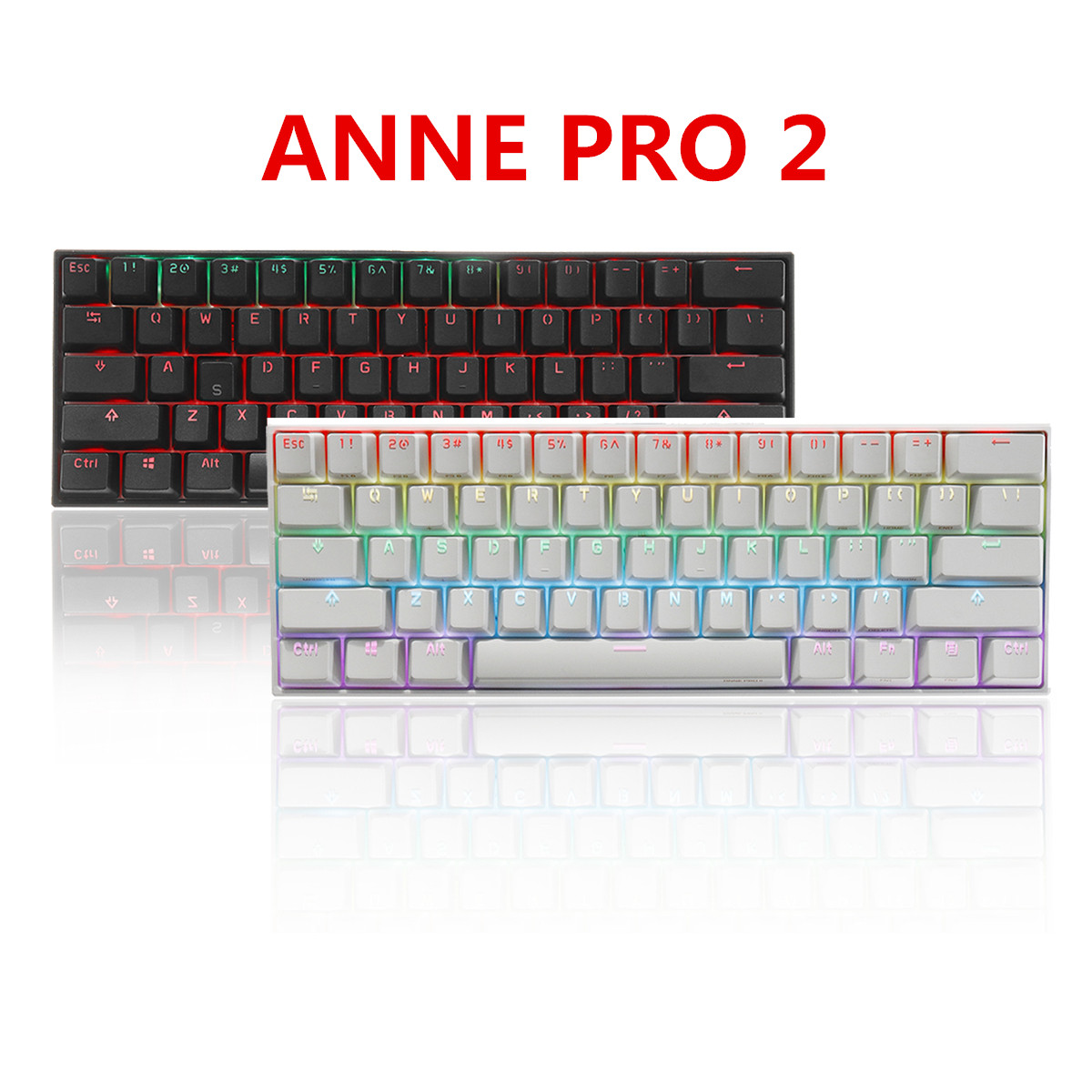Permalink to ANNE Pro2 Mini Portable Wireless bluetooth 60% Mechanical Keyboard Red Blue Brown Switch Gaming Keyboard Detachable Cable