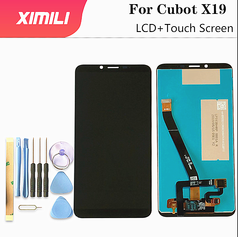 5.93 Inch Original 100% For Cubot X19 LCD Display With Touch Screen Digitizer Assembly For Cubot X19 Mobile Phone Accessories