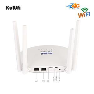 Image 2 - KuWFi 300Mbps 4G LTE Router Wifi 3G/4G Router Sim Card Sbloccato Router Wireless con 4Pcs Antenna Esterna Up 32 Utenti Wifi