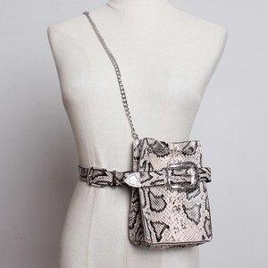 Image 2 - [Eam] 2020 nova primavera verão couro do plutônio personalidade fivela de corrente divisão saco comum cinto duas maneiras usar moda feminina maré jl687