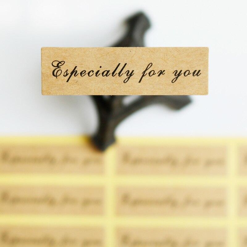 Etiqueta do selo do papel de 108 pces kraft especialmente para você ponto etiqueta do cozimento embalagem saco do biscoito etiqueta da selagem