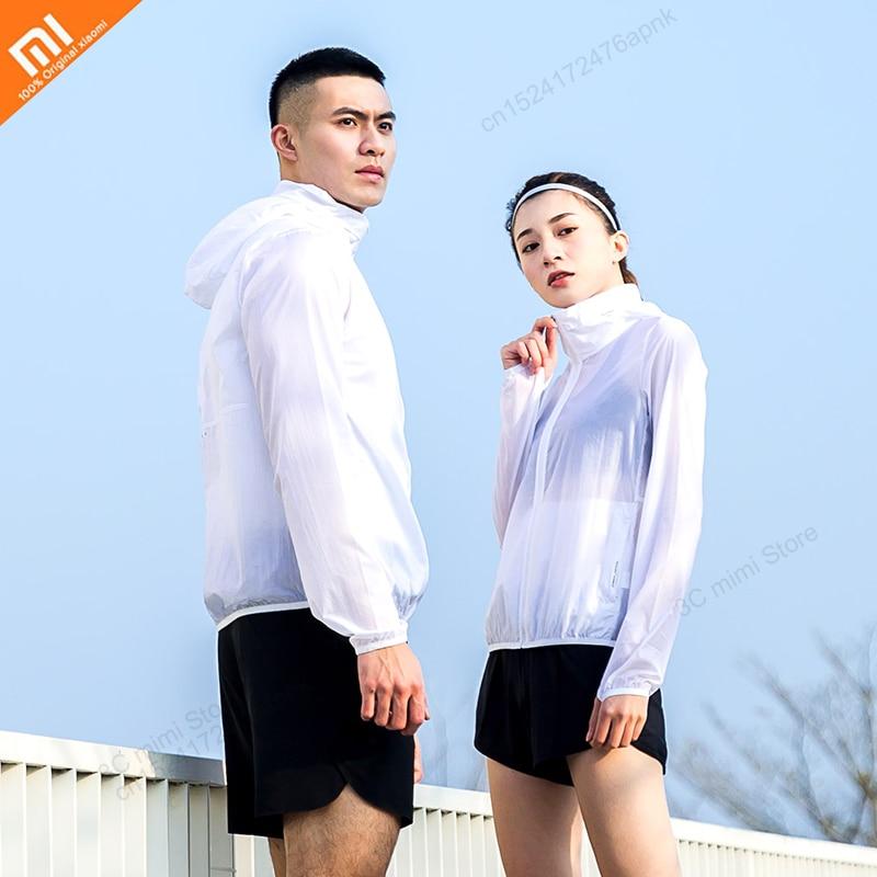 Original Xiaomi Men's Sports sunscreen skin clothing UPF50+3 grade water repellent light nylon mesh ventilation