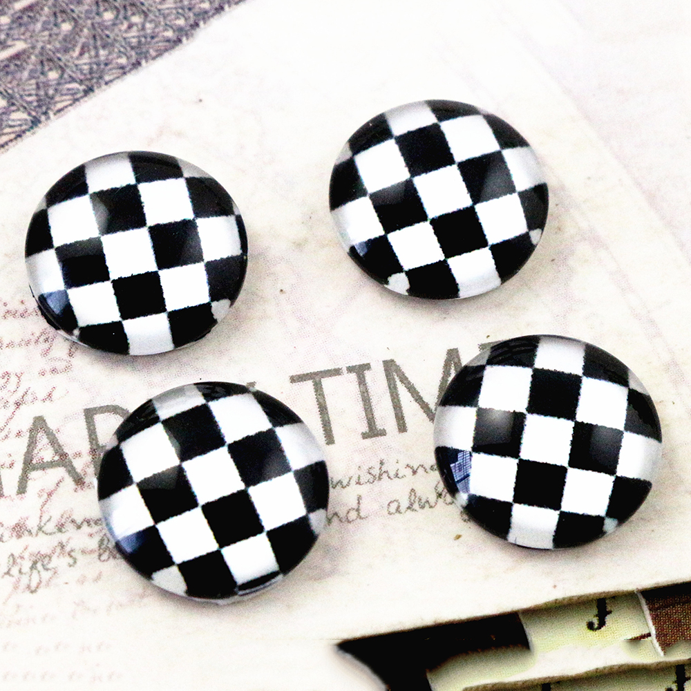 New Fashion  20pcs 12mm Handmade Photo Glass Cabochons  (E2-37)