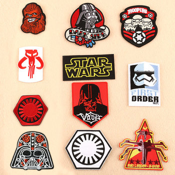 Star Wars Patch Embroidered Patches for Clothing Iron on Clothes Darth Vader Troopers Figure Badge Accessories Gift
