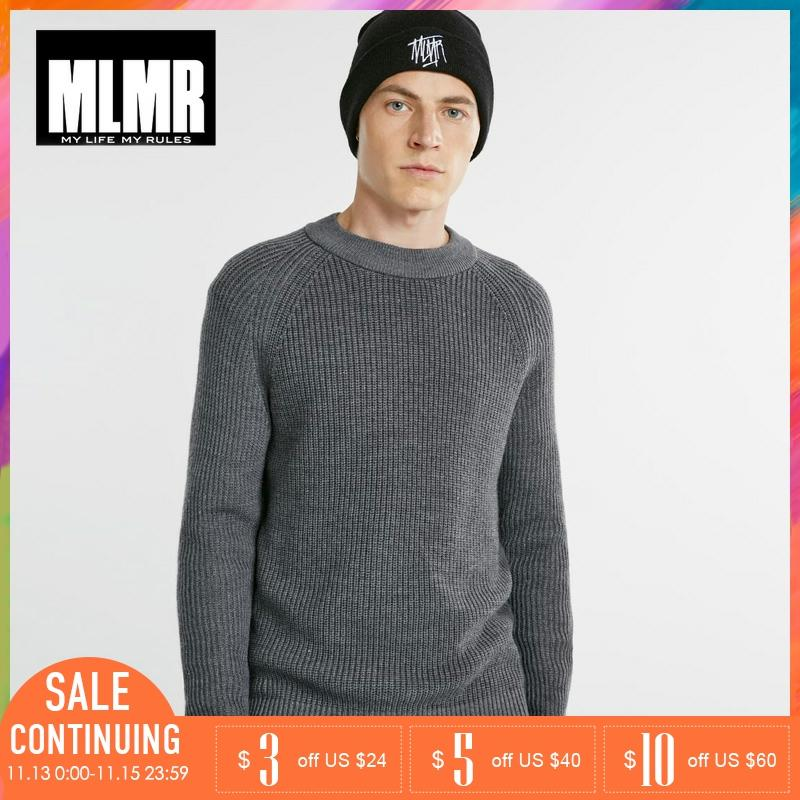 MLMR Crew Neck Autumn Winter Men Wool Blended Knit Sweater |218325502