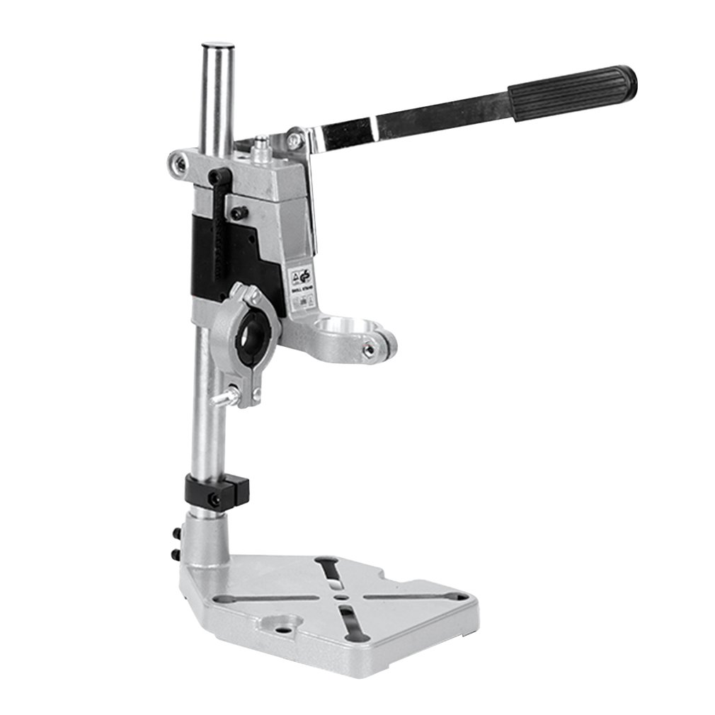 Aluminum Alloy Bench Drill Stand Electric Drill Base Frame Drill Holding Holder Bracket Drilling Guide For Woodworking