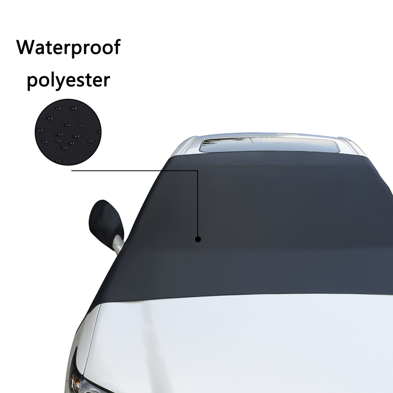 Car Snow Block Front Windshield Cover File Anti-Frost Anti-Icing Half Clothing Protective