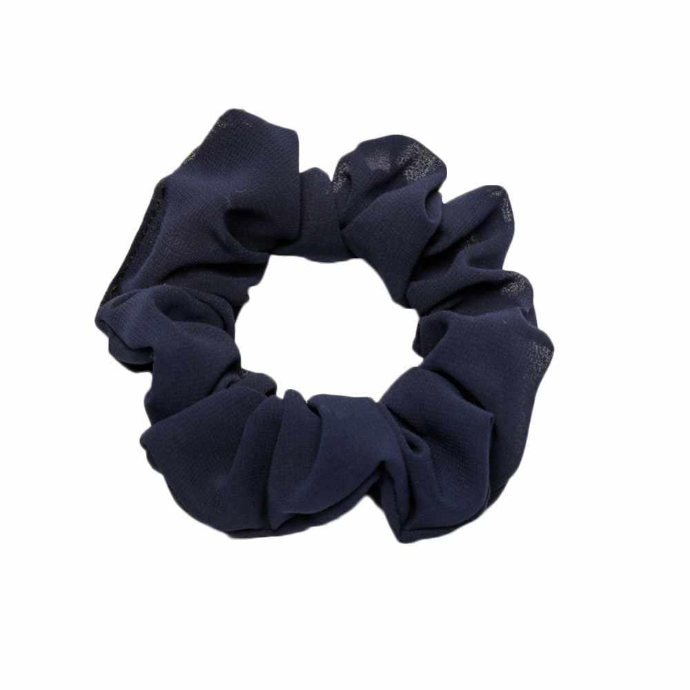 Trendy Lady Solid Color Rope Ring Scrunchie Ponytail Holder Hair Band Headband Girl Adjustable Stretch Hairband scrunchie wlosow