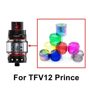 Colorful Bulb Bubble Pyrex Glass Tube 8ml for SMOK TFV12 Prince Tank Atomizer for Stick Prince / Mag 225w TC Kit Vape Accessory image