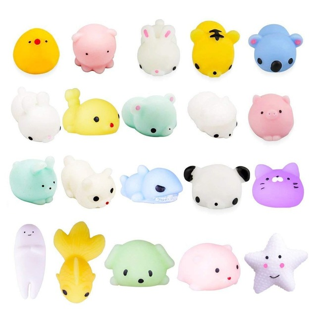 1 Piece Squishy Animal Toy Squeeze Mochi Rising Antistress Abreact Ball Soft Sticky Cute Funny Gift