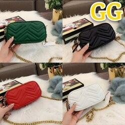2020 GG nueva marca de bolso de cuero para mujer bolso de mensajero de moda y duradero