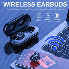 B5 TWS 5.0 Bluetooth Wireless Headset Touch Control 6D Stereo Earbuds Bass Handsfree Earphone With Microphone Charging Box