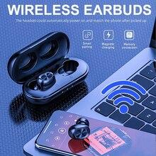 B5 TWS 5,0 Bluetooth беспроводная гарнитура с сенсорным управлением 6D стерео наушники с басами свободные наушники с микрофоном зарядная коробка