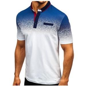 Image 4 - 브랜드 뉴 남성 폴로 셔츠 고품질 남성 코 튼 반소매 셔츠 브랜드 유니폼 여름 남성 폴로 셔츠 camisa 폴로 S 3XL