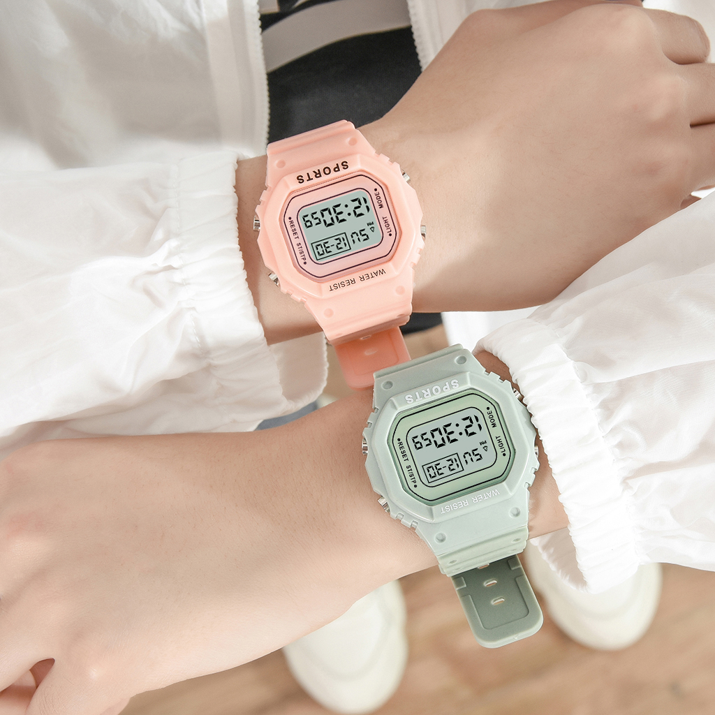 Reloj Mujer New Fashion Women Sport Watches Digital Waterproof Outdoor Led Wristwatch Unisex Rectangle Children Sport Watches