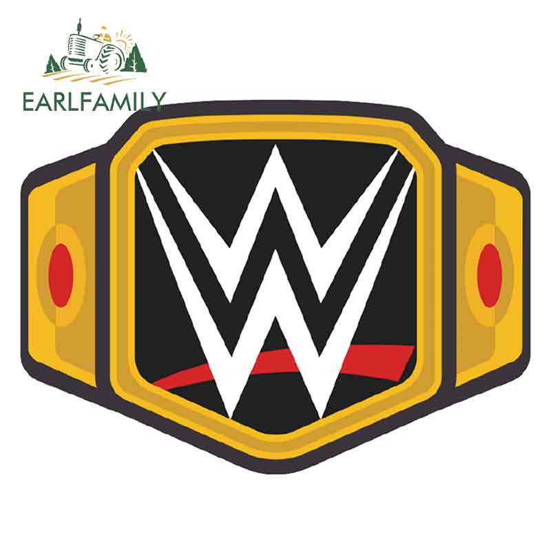 EARLFAMILY 13cm X 9.6cm For Wwe Championship Belt Fine Decal Interesting Car Stickers Surfboard Waterproof Occlusion Scratch