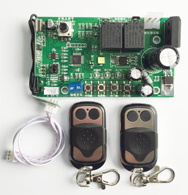 홀 센서 제한 차고 게이트 도어 오프너 모터 pcb 메인 보드 마더 보드 컨트롤러 2 개의 원격 제어 (24vdc 사용)