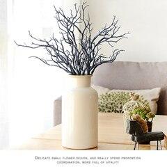 3 шт. Manzanita сухое искусственное поддельное лиственное растение ветка дерева Свадьба домашняя церковная офисная мебель зеленый белый 36 см Z - Цвет: A