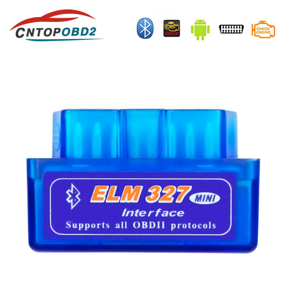 Super Mini ELM327 Bluetooth V2.1 OBD2 Scanner Car Diagnostic Tool Elm 327 V2.1 For Android/Symbian Support All OBDII Protocol