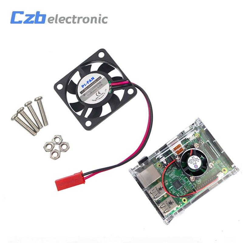 Raspberry Pi 3 CPU Cooling Cooler Fan Brushless Radiator for Raspberry Pi Model B+ Raspberry Pi 2 3 Orange Pi