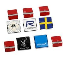Araba 3D Metal amblem rozeti R tasarım geyik Test Polestar İsveç ızgara Sticker Volvo S90 S80 S60 XC60 XC40 XC90 V60 V90 S40 V40