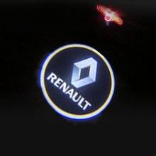 Para renault laguna 2 3 espace 4 5 vel satis latitude talismã megane carro led porta bem-vindo logotipo laser projetor lâmpada decorativa