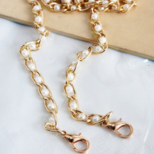 Fashion Women Sweet Imitate Pearl Shoulder Bag Chain Replacement Useful Chain For Bag High Quality Bags Accessories Hot Sale(China)