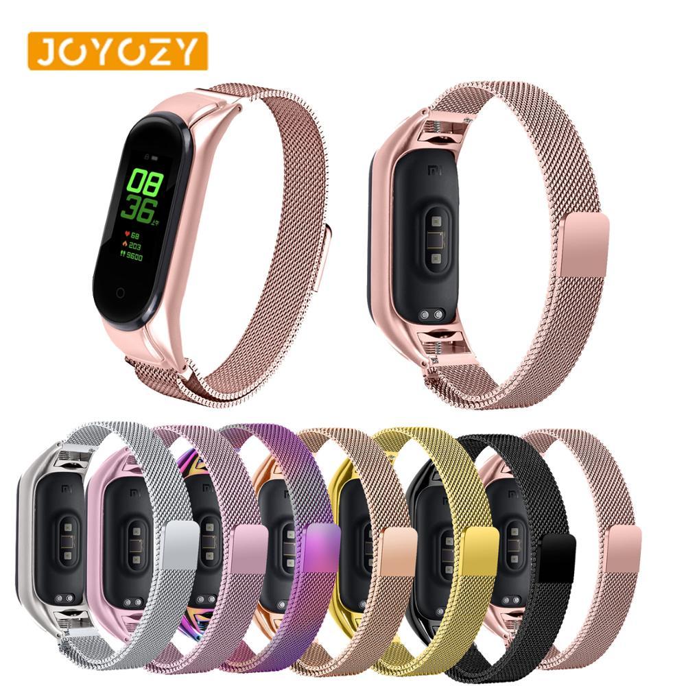 Joyozy Lightweight Stainless Steel For Band Xiaomi Wristband Strap Smart Wrist Watch Band Strap For Xiaomi Mi Band 3 4 Bracelet