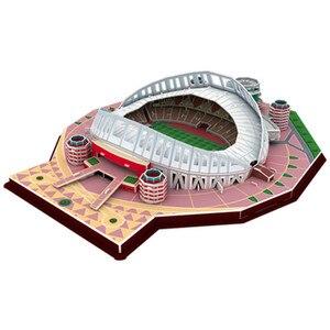 Image 3 - 2020 חדש כדורגל אצטדיון 3D פאזל מקסיקני ספרד משחקים עולם אדריכלות דגם התאסף בניין צעצועים לילדים