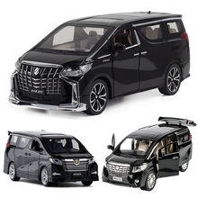 1:32 1:24 TOYOTA ALPHARD Car Model Alloy Die Cast MVP Classic Luxury Cars Favorites Christmas Gift Kids Toys Cars Free Shipping