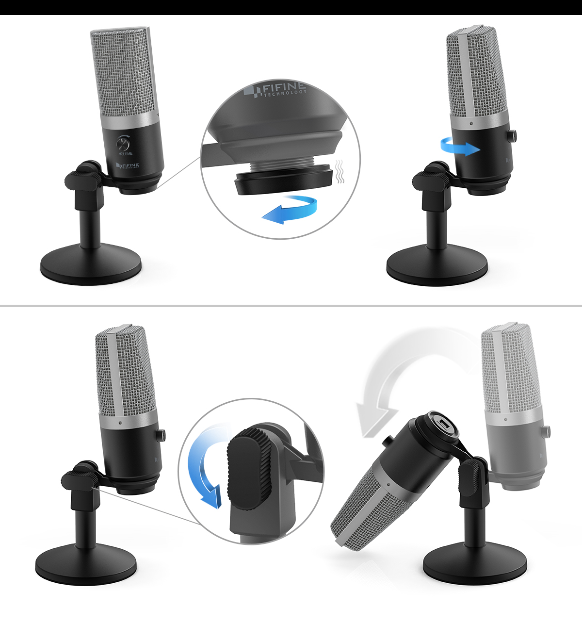 FIFINE Uni-Directional USB Microphone 16