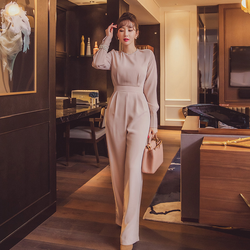 Elegant Business Jumpsuits Women 2020 New  Long Playsuits Casual Office Lady  Work Wear Rompers
