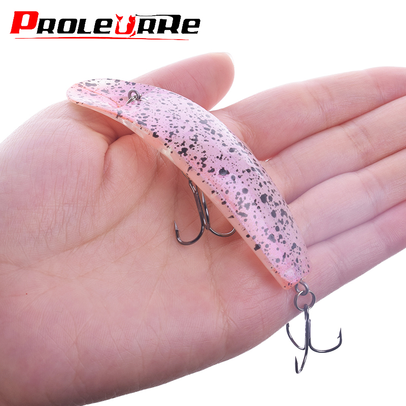 Soft Fishing Lures Minnow Luminous Night Fish Bait with Single Popper Hooks Carp