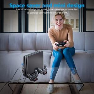 Image 5 - PS4 / PS4 سليم/PS4 برو منصة رأسية 2 جهاز شحن محطة 2 مروحة التبريد 10 ألعاب التخزين لسوني بلاي ستيشن 4 وحدة التحكم