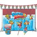 Супер Zings украшения для дня рождения, тематические сувениры в виде игры Superzings, поставки баннеров, чашек, вещей, соломинок, супервещей