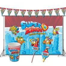 Super zings decorações de festa de aniversário jogo superzings tema favores supplys banner copos coisas palhas superthings
