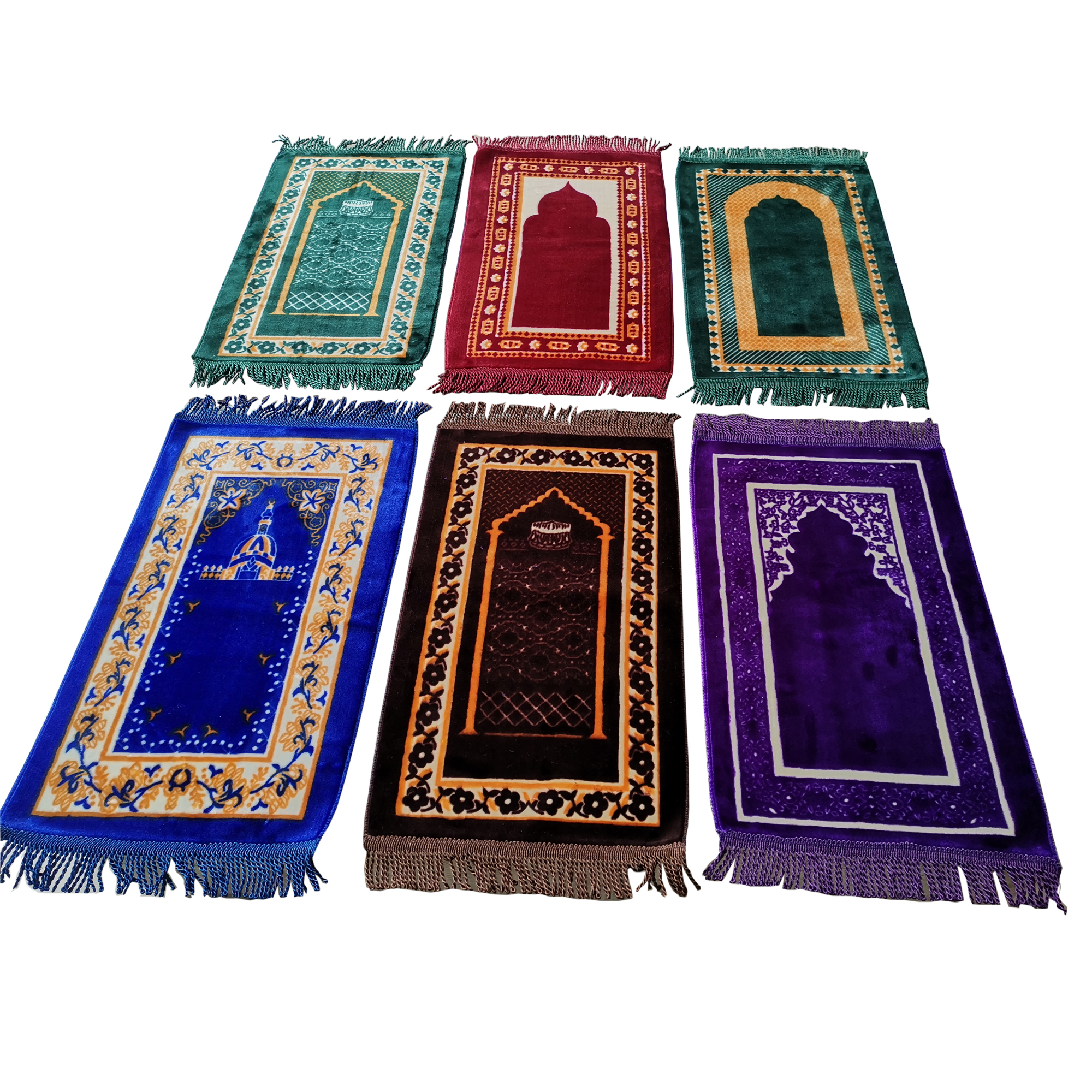 WE-WHLL Portable Muslim Prayer Rug Simply Print Polyester Braided Mat Travel Home Waterproof Blanket Mat 70x110CM
