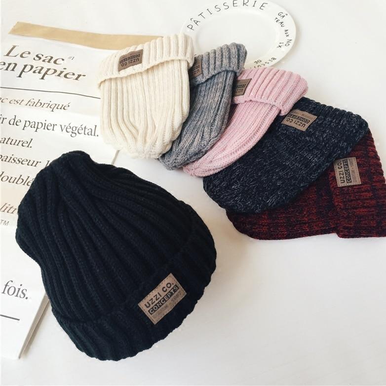 Корейская шерстяная Женская осенне-зимняя вязаная шапка разных цветов с маркировкой рукав шапка мужская модная универсальная теплая парна...