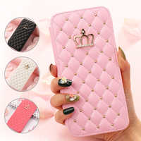 Pepmune luxo carteira flip caso telefone para iphone 11 pro max x xr xs menina bonito capa de couro para apple 8 plus 7 6 s 6 5 5S se capa