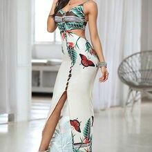 Женское платье с открытой спиной цельное облегающее в европейском