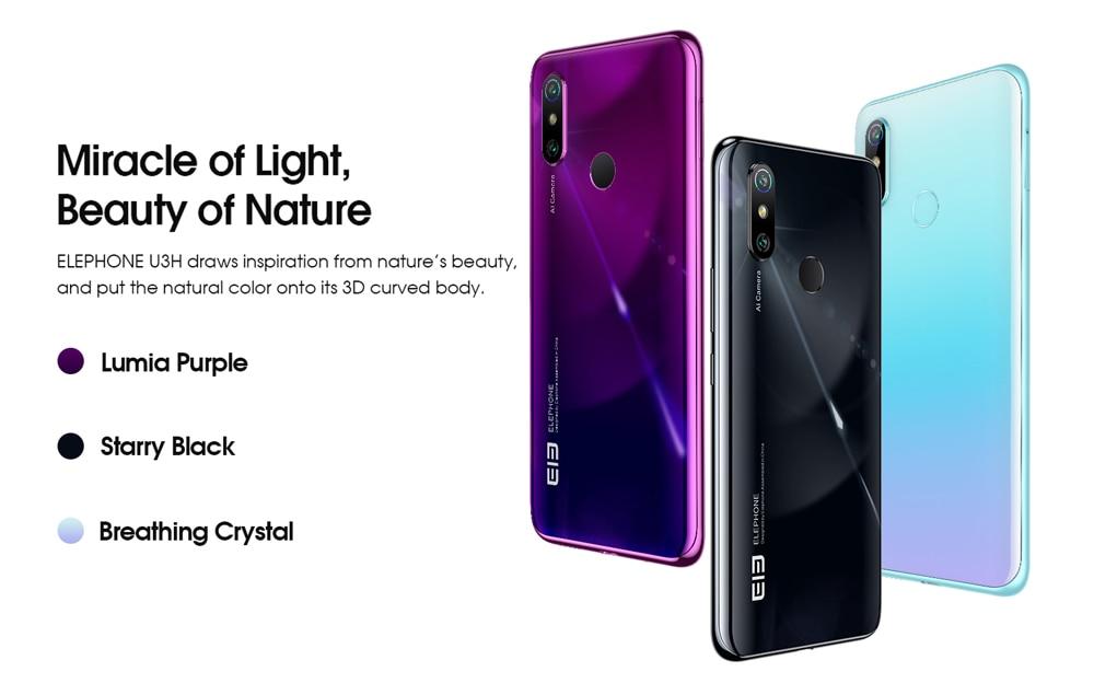 ELEPHONE U3H Helio P70 Octa Core Smartphone Better Than Xiaomi Mi 10 Redmi Note 7 Note 8 6.53 FHD+ 128GB  256GB 24MP Selfie 48MP Dual Camera NFC Android 10 Mobile Phone (20)