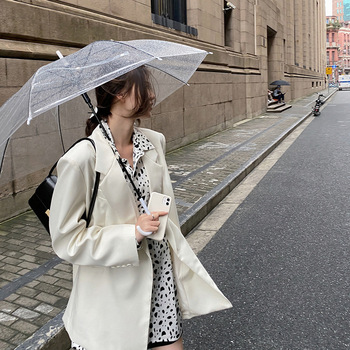 C 2020 Short Coat Korean-style Loose White Casual Suit Thin Tops Drape Small Suit Female