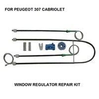 Peças de carro 2003-2008 para peugeot 307 cabriolet janela regulador reparação kit frente lado esquerdo novo