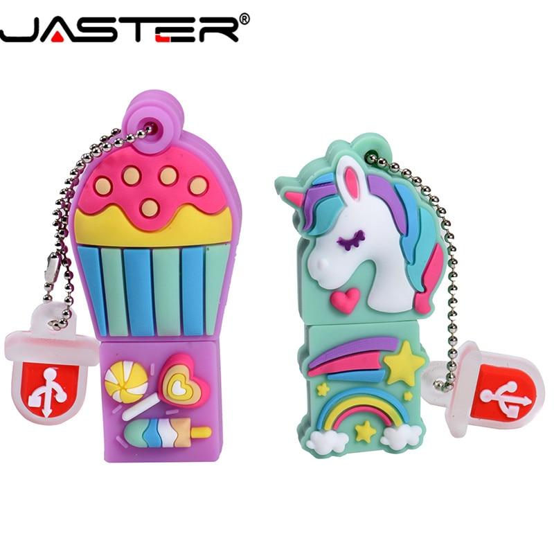 JASTER USB 2.0 Cute Cartoon Candy Pen Case Model USB Flash Drive 4GB 8GB 16GB 32GB 64GB Pendrive Thumb Memory Stick  Gift