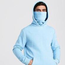 Мужская толстовка с капюшоном синяя Толстовка большого размера