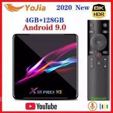 2020 NEW Amlogic S905X3 Android 9.0 TV Box 8K Smart Media Player Max 4GB RAM 128GB ROM 4Core Dual Wifi Set Top Box 1G/8G YouTube